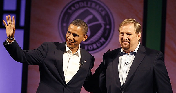 obama warren 01 Why are Those Gays so Mad About Rick Warren?